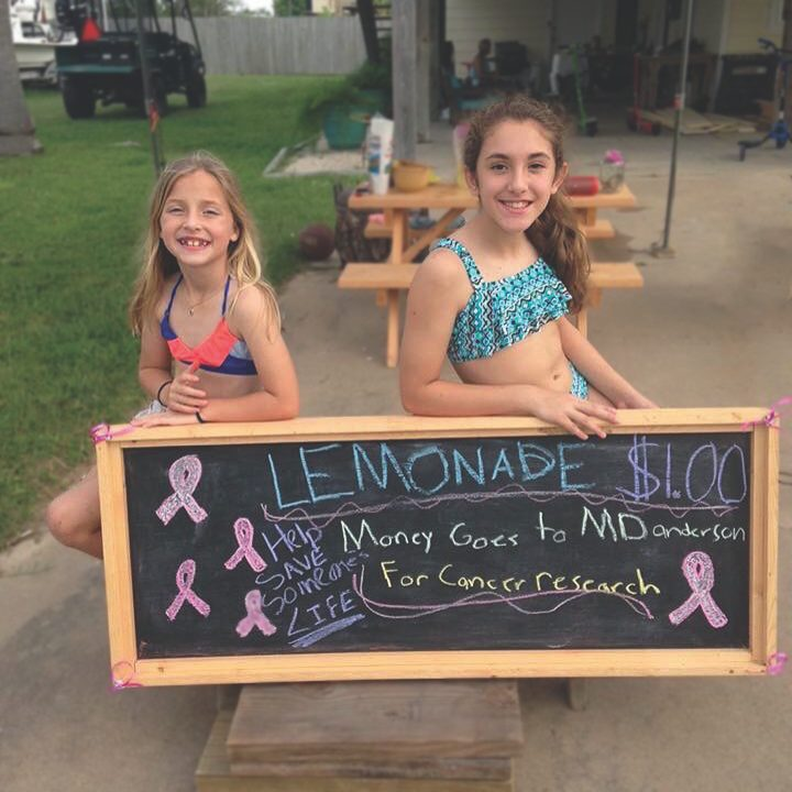 The two friends who share a love of sports and a passion for helping others decided to open a lemonade stand this past summer. The goal? Raise money for cancer research.