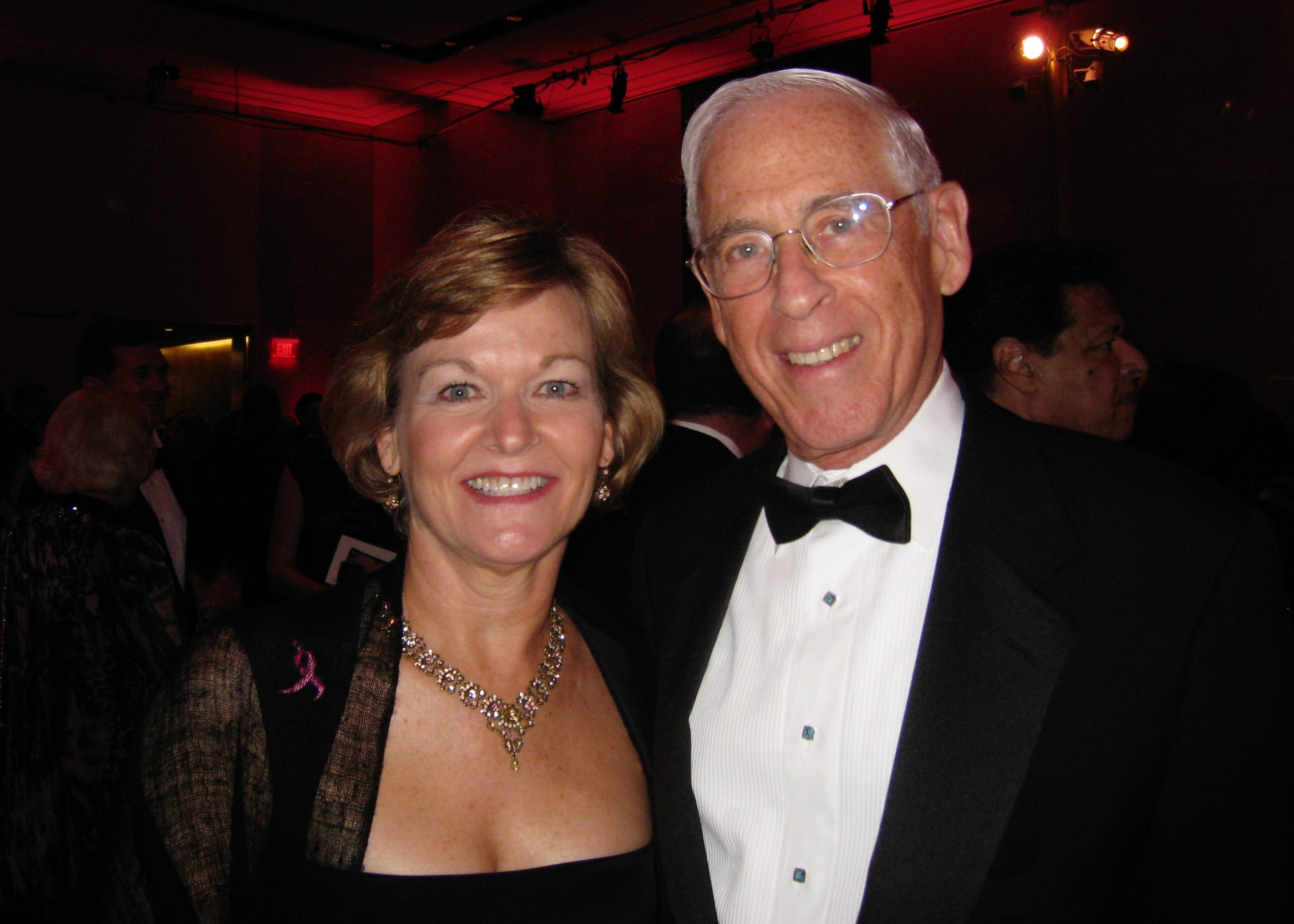 Dorothy Paterson, Susan G. Komen for the Cure® board member, and John Mendelsohn, M.D., at Komen's 2010 gala at the John F. Kennedy Center for the Performing Arts in Washington, D.C. Photo courtesy of Dorothy Paterson.