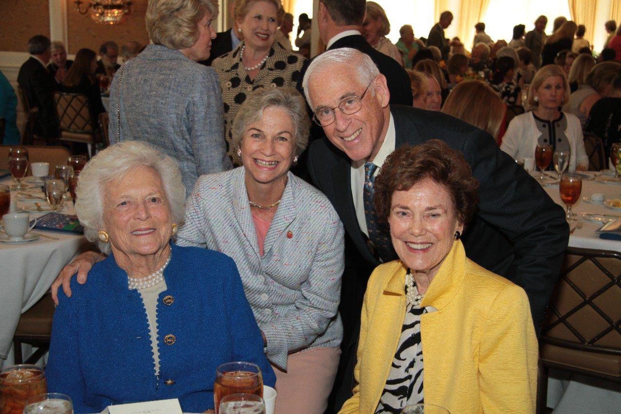 Anne and John Mendelsohn, M.D., center, join former first lady Barbara Bush and longtime MD Anderson supporter Helen Vietor at the Volunteer Endowment for Patient Support (VEPS) luncheon at River Oaks Country Club in Houston. Vietor's husband, George, was an MD Anderson patient and volunteer who founded VEPS, hoping to build the endowment to $1 million in 10 years. With that goal achieved in just nine years, the endowment currently stands at more than $2.7 million. Since 1992, VEPS has disbursed more than $1.6 million to fund patient-oriented programs and services at MD Anderson. Nancy B. Loeffler, chair of The University Cancer Foundation Board of Visitors, was keynote speaker at this year's March luncheon.