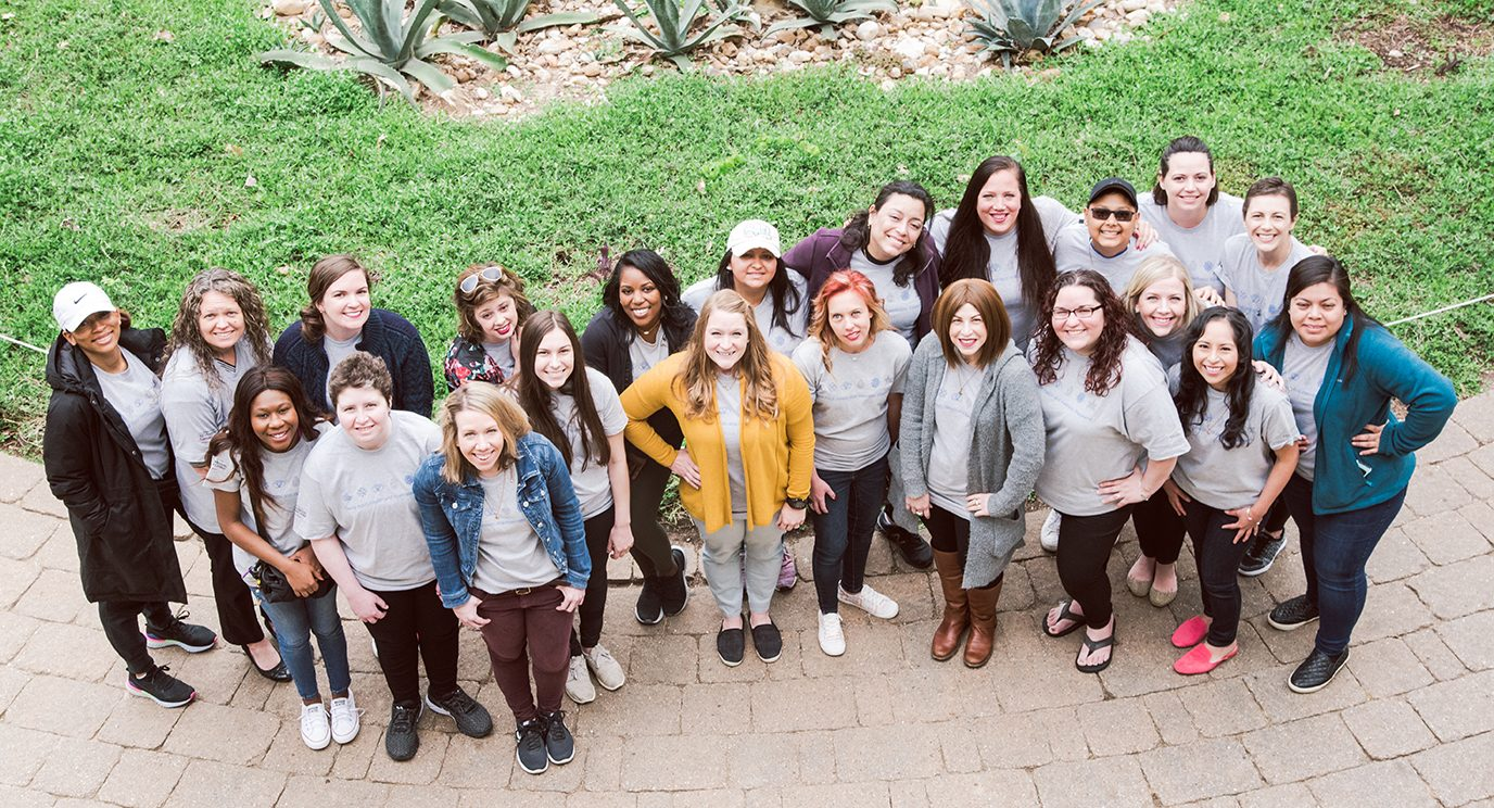 Young adult cancer survivors enjoy a weekend retreat.