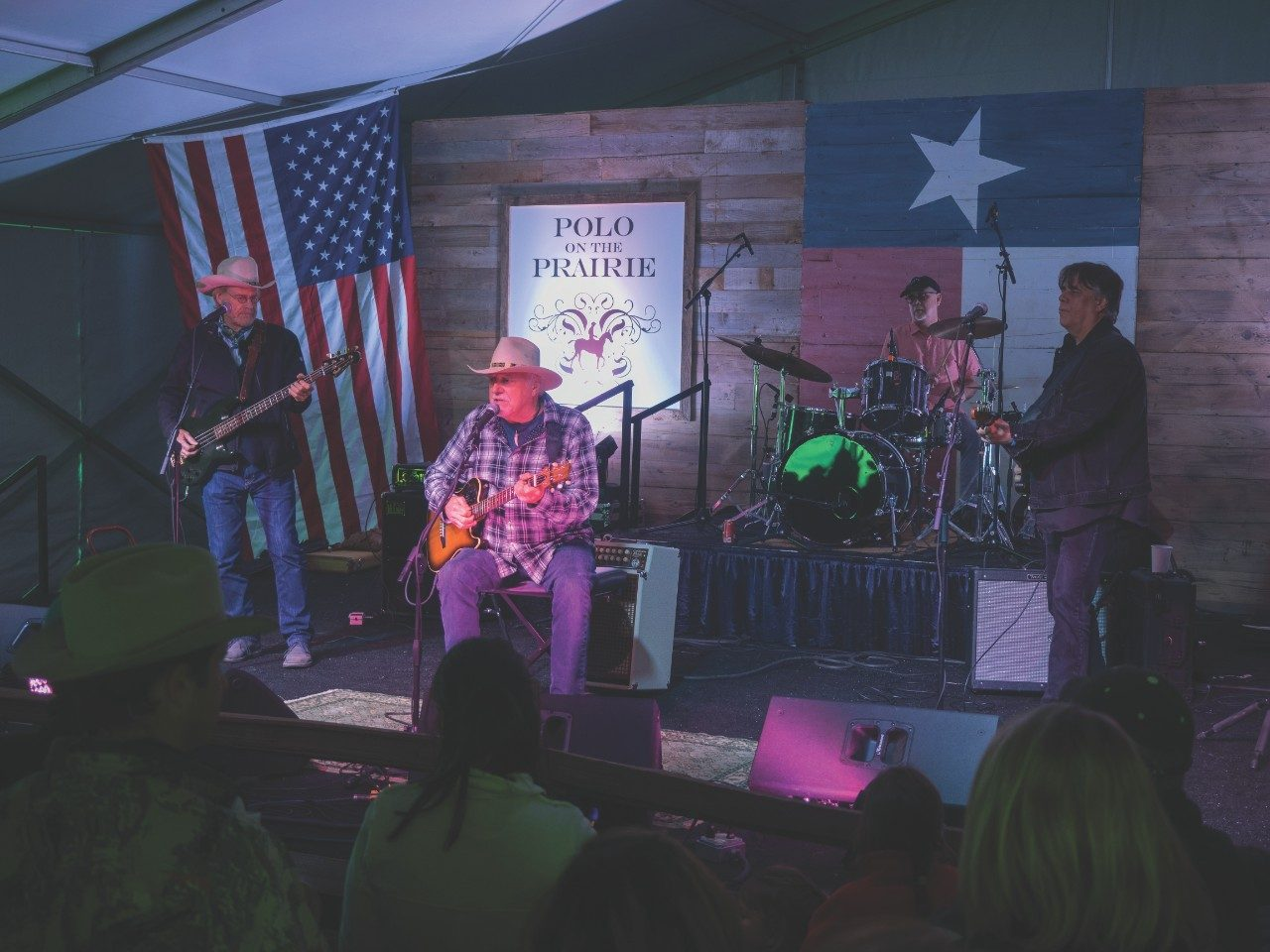Country music legend Jerry Jeff Walker performs at Polo on the Prairie, an annual fundraiser to support patient care and research at MD Anderson.