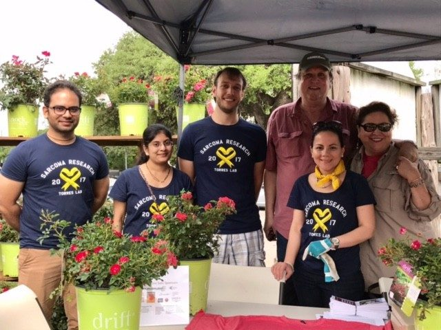 MD Anderson staff and loved ones sell Knock Out® roses each spring to raise money for research for sarcoma in honor of Sally Kingsbury.