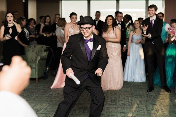 Patient Mario Quezada practices his dance moves.