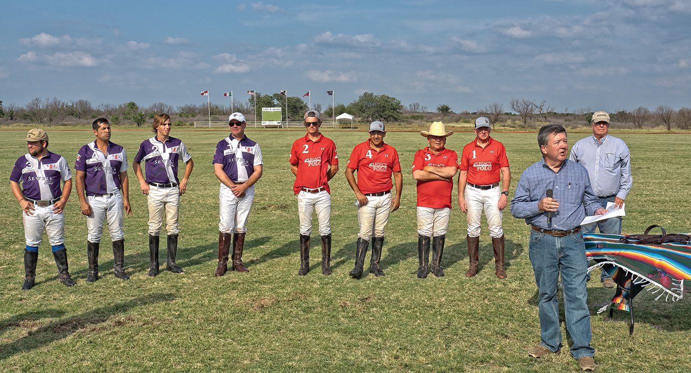 Polo on the Prairie players gather for awards ceremony.