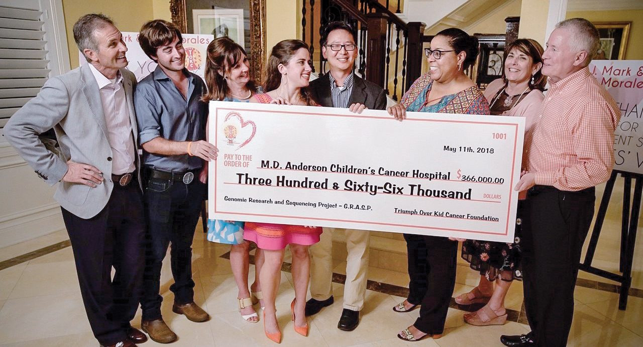 Triumph Over Kid Cancer Foundation continues fundraising work in support of pediatric cancer patients at MD Anderson.