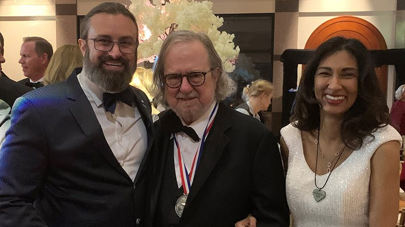 Richard Bagdonas, Jim Allison, Ph.D., and Padmanee Sharma, M.D., Ph.D.
