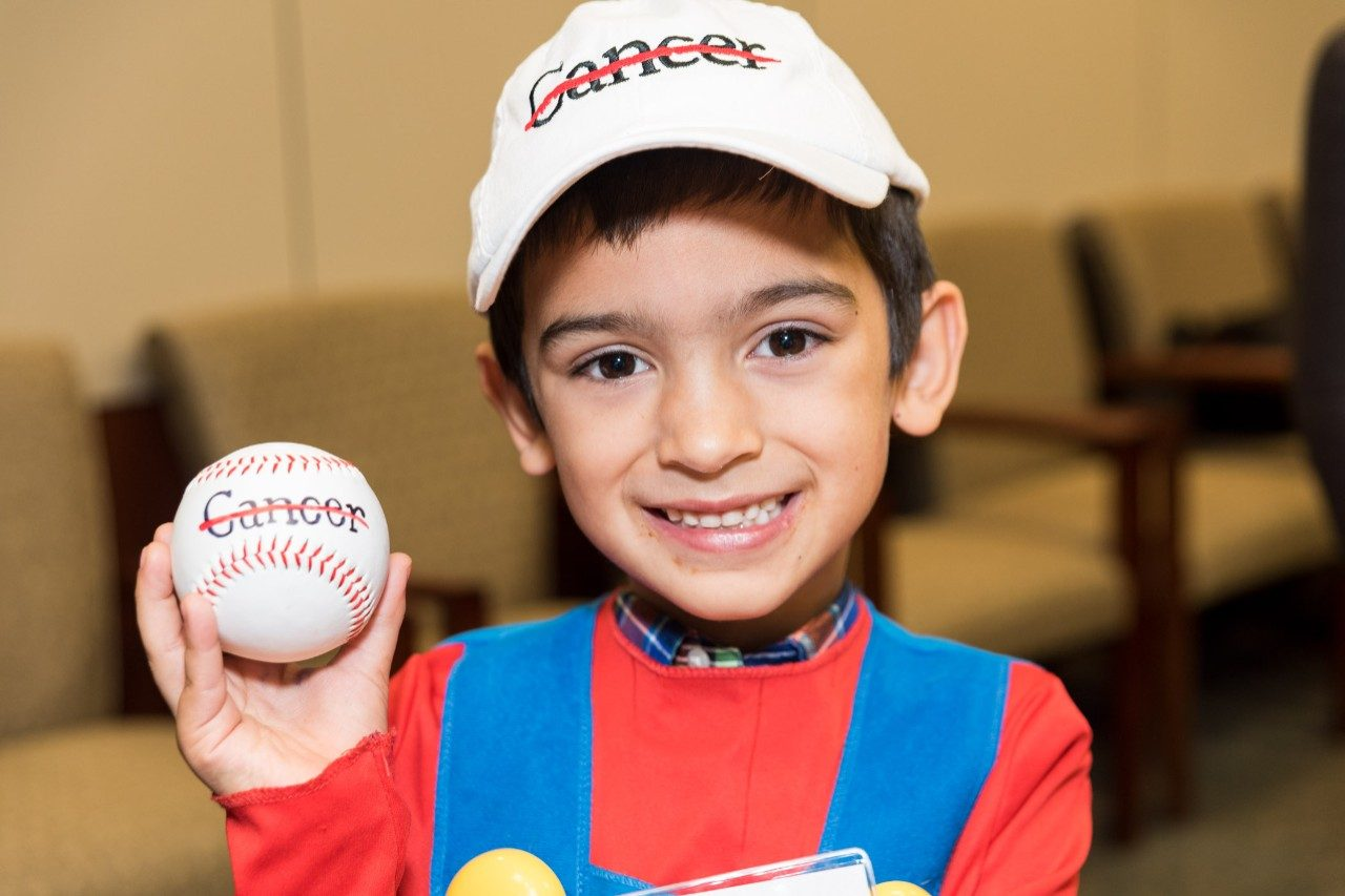 Brayden Rivera, a 7-year-old from Texas City, donates $385 to MD Anderson Cancer Center.