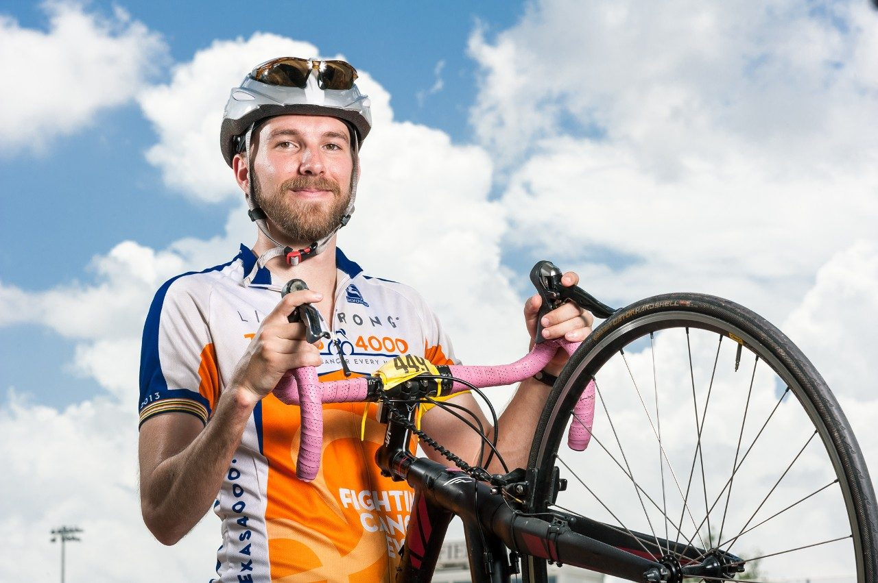 Ewing's sarcoma cancer survivor Bucky Ribbeck talks about how cycling has allowed him to remain physically active after surgery limited his ability to play baseball.