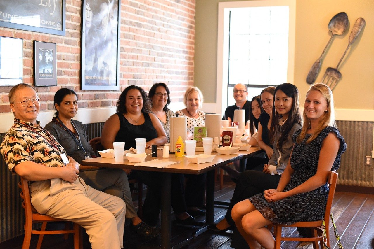 Lab lunch with summer students