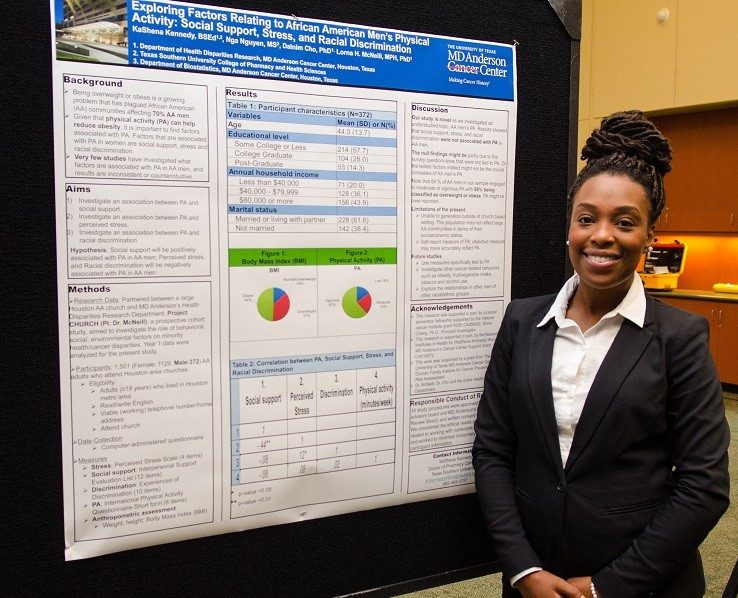 CPRTP summer trainee presenting poster