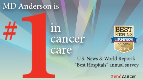 MD Anderson is #1 in cancer care