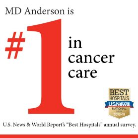 MD Anderson ranked No  1 for cancer care in national survey | MD